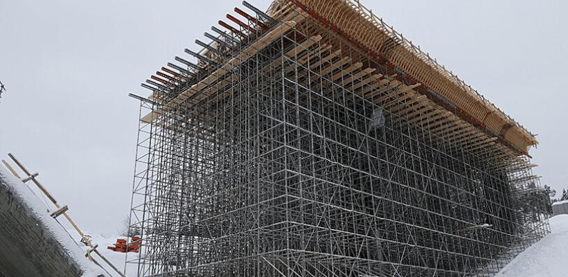 RMD Kwikform's shoring on the Saggrenda Bridge