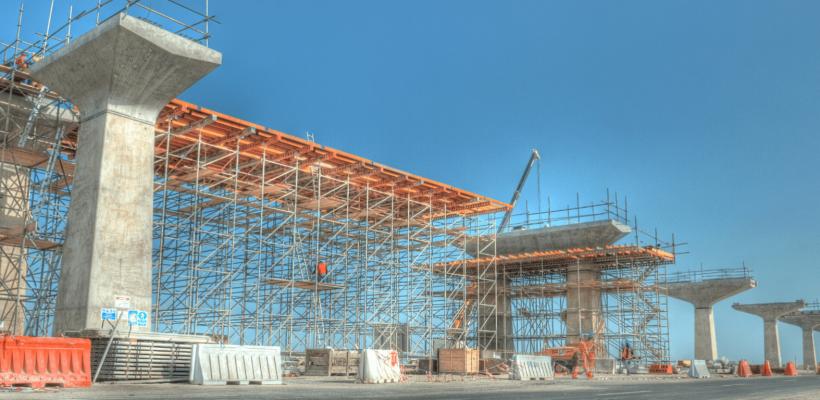Image of doha metro construction
