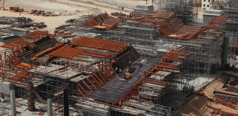 Image of construction of mall of Egypt ski park