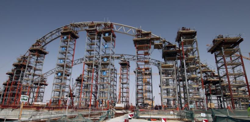 Construction of Midfield airport Abu Dhabi